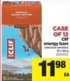 Clif Energy Bars - 12 X 68 g - Case Of 12