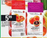 PC Blood Oranges - 2 Lb Or Cara Cara Oranges - 3 Lb