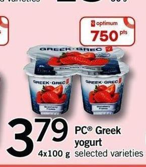PC Greek Yogurt - 4x100 g