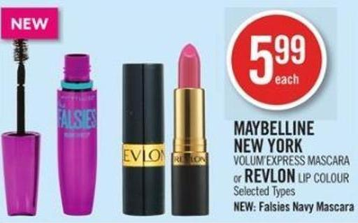 Maybelline New York  Volum'express Mascara or Revlon Lip Colour