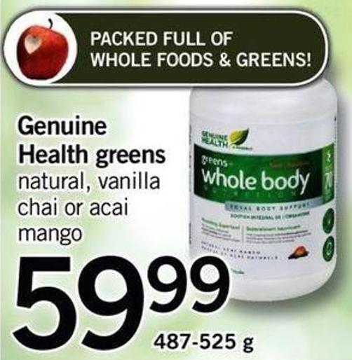 Genuine Health Greens - 487-525 G