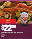 Aquastar King Crab Legs And Claws  - 500 G