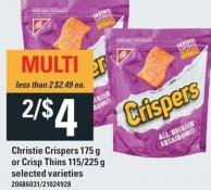 Christie Crispers - 175 G Or Crisp Thins - 115/225 G
