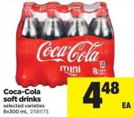 Coca-cola Soft Drinks - 8x300 mL