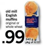 Old Mill English Muffins - 340 G - Pkg Of 6
