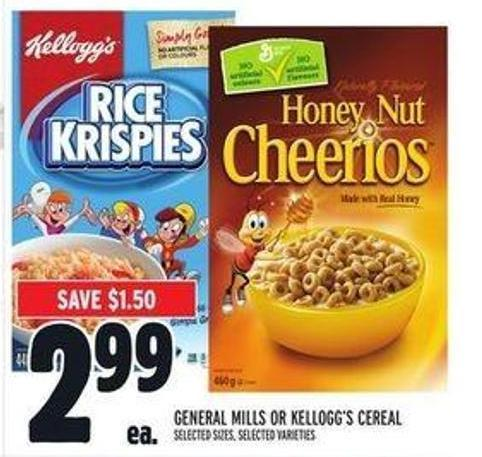 General Mills - Post or Kellogg's Cereal