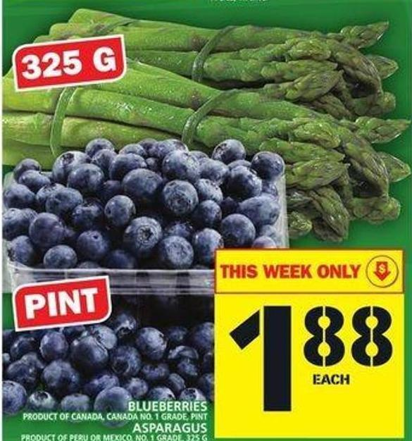 Pint Blueberries Or Asparagus