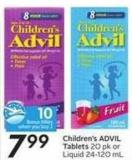 Children's Advil Tablets - 10 Air Miles Bonus Miles