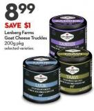 Lenberg Farms Goat Cheese Truckles 200g Pkg