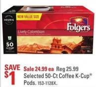 Folgers Selected 50-ct Coffee K-cup