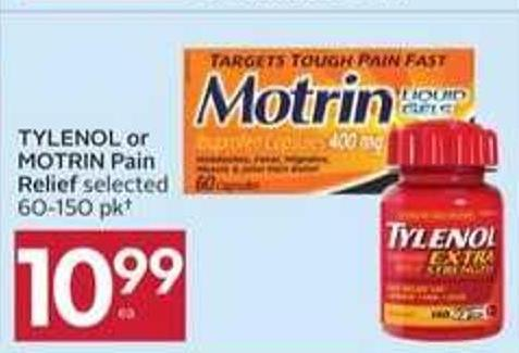 Tylenol or Motrin Pain Relief - 50 Air Miles
