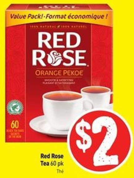 Red Rose Tea 60 Pk