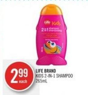 Life Brand Kids 2-in-1 Shampoo 265ml
