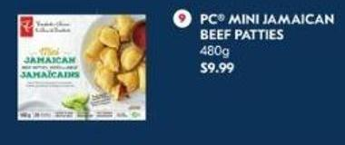 PC Mini Jamaican Beef Patties 480 g