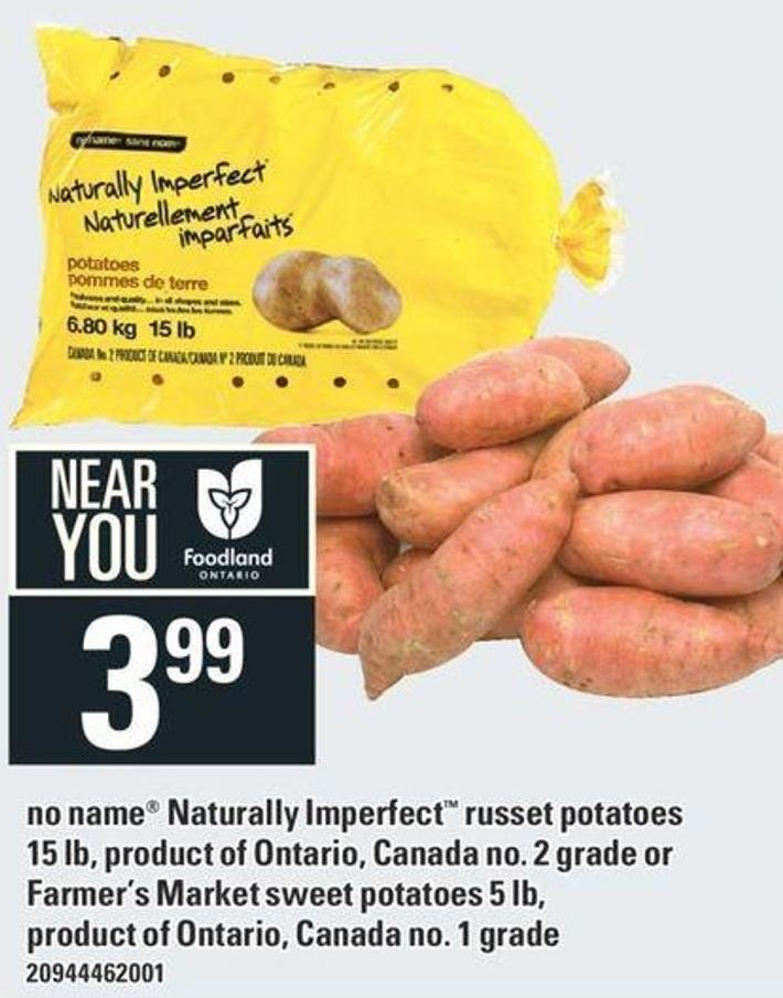 No Name Naturally Imperfect Russet Potatoes 15 Lb Or Farmer's Market Sweet Potatoes 5 Lb
