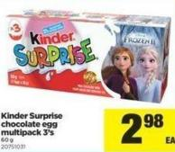 Kinder Surprise Chocolate Egg Multipack 3's - 60 g