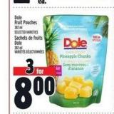 Dole Fruit Pouches