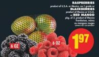 Raspberries - Blackberries or Red Mango - Pkg of 3