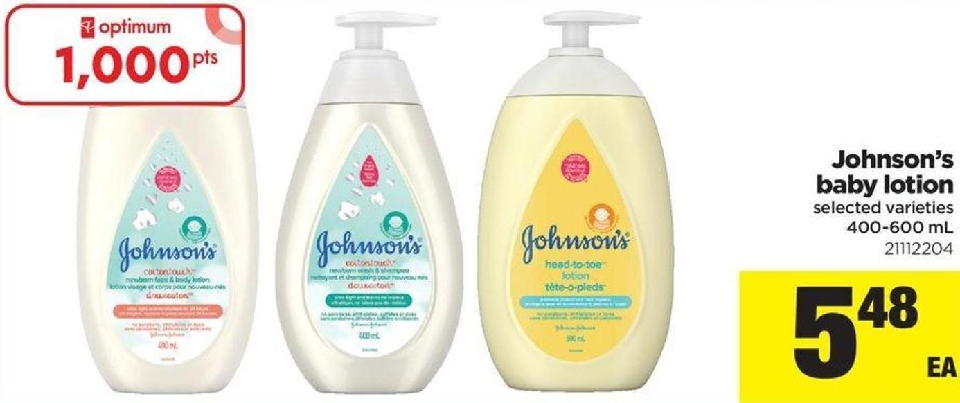 Johnson's Baby Lotion - 400-600 mL