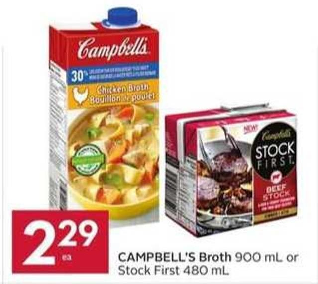 Campbell's Broth 900 mL or Stock First 480 mL