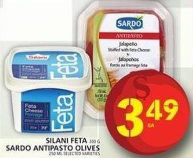 Silani Feta Or Sardo Antipasto Olives