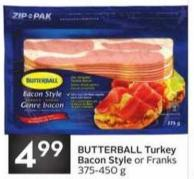 Butterball Turkey Bacon Style