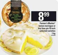 Farmer's Market Lemon Meringue Or Key Lime Pie - 10 Inch