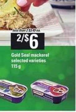 Gold Seal Mackerel - 115 g