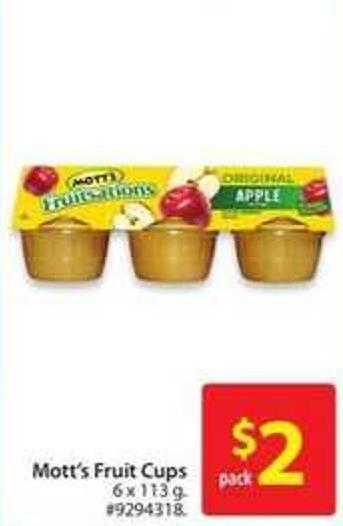 Mott's Fruit Cups