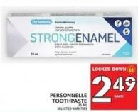 Personnelle Toothpaste