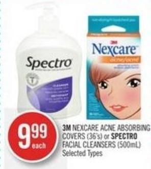 3m Nexcare Acne Absorbing Covers (36's) or Spectro Facial Cleansers (500ml)