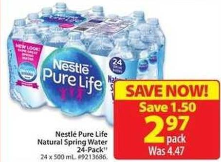 Nestlé Pure Life Natural Spring Water 24-pack