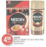 Nescafé Sweet & Creamy (18 X 22g) or Gold (100g) Instant Coffee