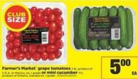 Farmer's Market Grape Tomatoes - 2 Lb or Mini Cucumber - 11's