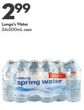 Longo's Water 24x500ml Case