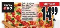 Fresh 2 Go Artisanal Stone Baked Pizza Selected Stores Selected Varieties