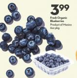 Fresh Organic  Blueberries