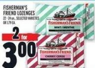 Fisherman's Friend Lozenges 22 - 24 Un. -