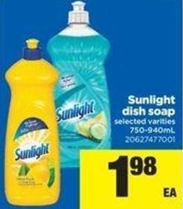 Sunlight Dish Soap - 750-940ml