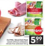 OLYMEL Sliced Deli Meat Raised Without Antibiotics & Nitrate Free - Selected 150 g