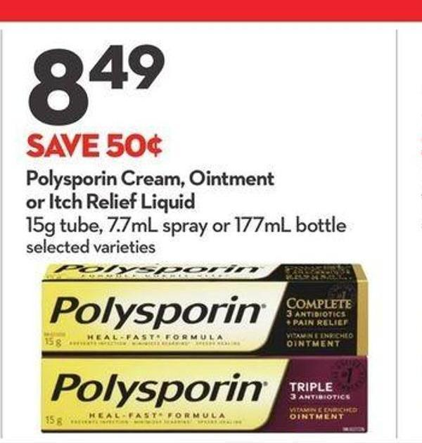 Polysporin Cream - Ointment or Itch Relief Liquid