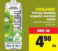 Thirsty Buddha Organic Coconut Water - 1 L