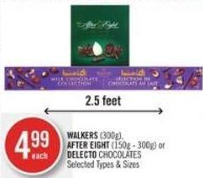 Walkers (300g) - After Eight (150g - 300g) or Delecto Chocolates