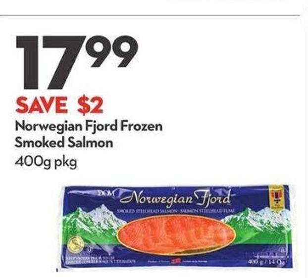 Norwegian Fjord Frozen Smoked Salmon