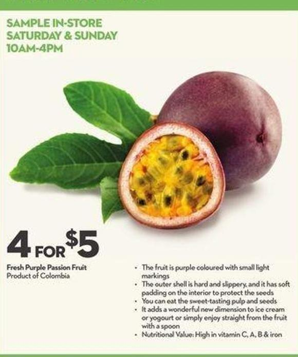 Fresh Purple Passion Fruit