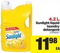 Sunlight Liquid Laundry Detergent - 4.2 L