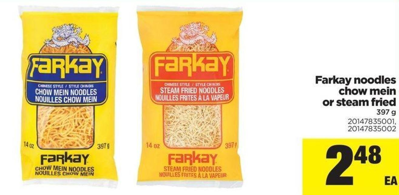 Farkay Noodles Chow Mein Or Steam Fried - 397 G