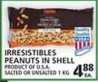 Irresistibles Peanuts In Shell