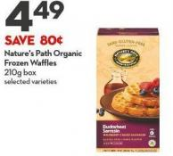 Nature's Path Organic Frozen Waffles  210g Box