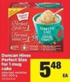 Duncan Hines Perfect Size For 1 Mug Cake - 260-300 g